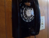 Vintage Rotary Desk Phone, Turquoise Telephone, Mid Century Phone, Teal, Aqua, 1960s, 1970s