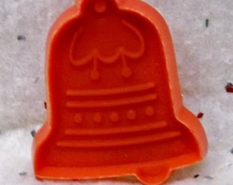 """Miniature Christmas Bell Cookie Cutter ~ Red Hallmark Cookie Mold - Detailed Hard Plastic 2 1/4 """" High Bell Cut Out - Mint - Cookie Recipe"""