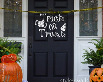 halloween wall decal trick or treat wall decal sweets wall sticker trick or - Halloween Wall Decor