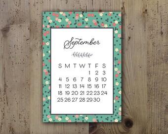 2017 Floral Calendar - Desk Calendar, Comb Bound, Wall Calendar, or Single Pages