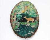 Enchantment // 9 x 12 art print on wood round