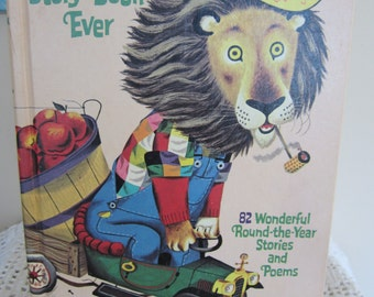Vintage Richard Scarry's Best Story Book Ever Hardback 82 Stories & Poems