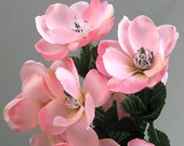 Wedding Flower Bouquet Pink Flower Decor Magnolia Flower Bush Artificial Silk Flower Bunch of Flowers Artificial Flower Centerpiece Faux