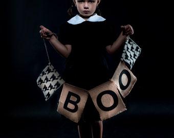 "Girl's ""Wednesday Addams"" Inspired Dress"