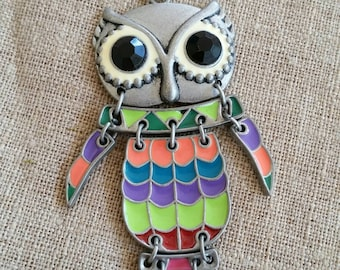 Rainbow Necklace, Owl, Owl Necklace