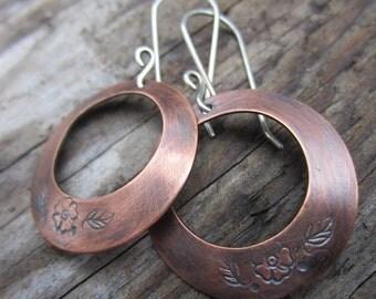 Spring Time Copper Earrings