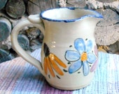 Wildflowers handmade pottery small pitcher - 12 oz - ceramic creamer - pottery jug - utensil holder - tallpinespottery - wf110814