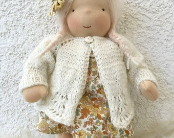 Waldorf doll. Waldorf toy.  (14,4 inch). Summer girl.