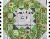 Tis The Season Quilt Doodle Designs June's Block 2016