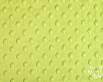 Minky Dot Fabric - Apple Green