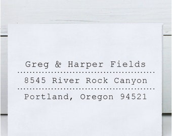 Custom address stamp,Return Address Stamp, Personalized Address Stamp, Eco Mount Rubber Address Stamp  - Fields