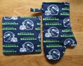 Cooking Set - Seattle SEAHAWKS - Oven Mitt Pot Holder - Insulated - Side Tab