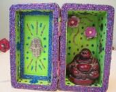 Buddha mini nicho, altar, folk art, meditation, spirit house