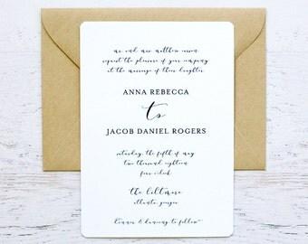 Anna Custom Wedding Invitation