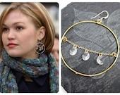 Reserved for M, custom gold hoop earrings