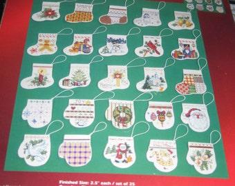 Counted Cross Stitch Mini Stockings
