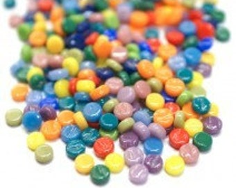 Tutti Frutti Tiny Dots-50g//Mini Mosaic Tile//Mini Glass dots//Discount Mosaic Supplies//micromosaic