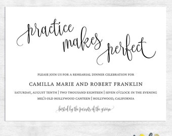 simple rehearsal dinner invitations / printable rehearsal dinner invitation / printable invitations / printed invitations