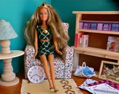 Barbie Home Library  1/6 Scale w/ Free Mini Gameboards