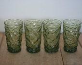 vintage anchor hocking lido juice glasses set of four