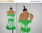 SALE 1950s two piece bathing suit • vintage 50s swimsuit • hawaiian bather