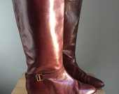1980's leather riding boots 9.5 Etienne Agnier