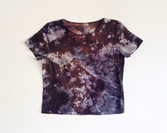 Hand Dyed Mineral Tee Black and Gray M/L