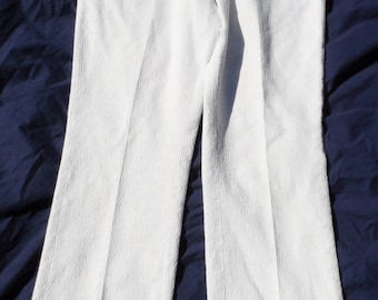 Vintage Hagger Mustang White Textured Pattern Scovill zip fly Cotton 31 X 29 Pants (20 % DISCOUNT APPLIED)