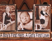 Dad Sign, Fathers Day Gift,  Dad Photo Gift Blocks, Customized Dad Sign Word Blocks with Pictures, Father's Day Gift, Dad's Birthday Gift