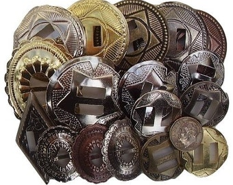 CONCHOS GRAB BAG Mized Sizes Assorted 25 Pcs