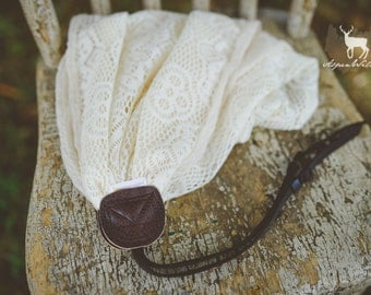 Ivory Crochet Scarf Camera Strap