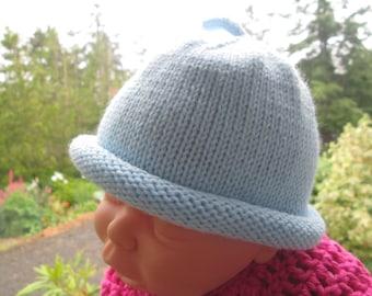Baby Boy Blue Beanie by SuzannesStitches, Baby Boy Blue Beanie Hat, Baby Girl Blue Hat, Baby Hat, Blue Skull Cap, Blue Beanie, Baby Blue Hat