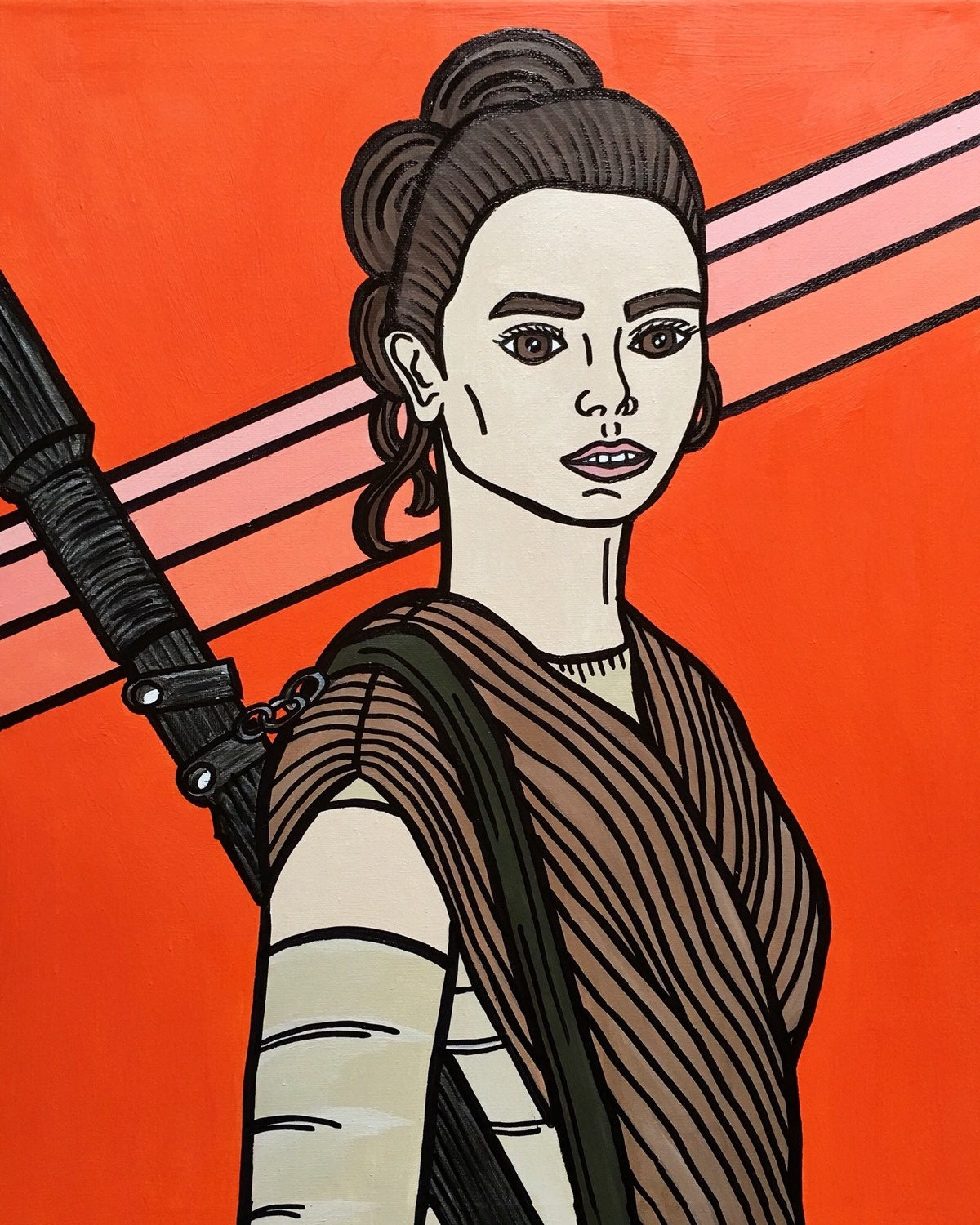 star wars the force awakens rey pop art print tv. Black Bedroom Furniture Sets. Home Design Ideas