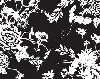 1 Yard of Rose Cliff Manor C3920 Black Riley Blake Designs Fabric