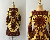 RESERVED LISTING -- Vintage 1970s Dress - 70s Bohemian Cotton Dress