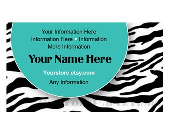 Printable Business Card, Business Card, Modern Business Card, Cards, Business Card, Zebra Stripes Business Card by NewYorkPaperTrail on Etsy