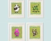 Baby art prints, Art print set, Baby nursery art, Animal art print, Zoo Animals, Art print set, Baby animal art, Set of 3 prints