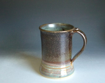 Hand thrown stoneware pottery personal mug   (PM-21)