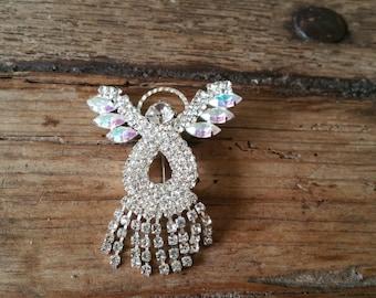 Crystal angel pin