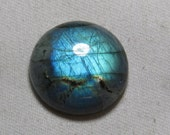 LABRADORITE -  So Gorgeous Full Blue Flash Strong Round Shape Cabochon Huge size - 27x27 - Height 8 mm