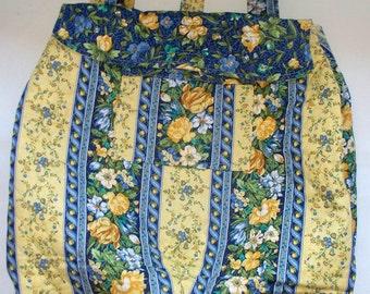 Super HUGE Quilted Backpack, Great Beach Bag, Flowered Overnight Bag, Six Multiple Pockets,OOAK, RTS,Crochet Afghan Bag,Supersized