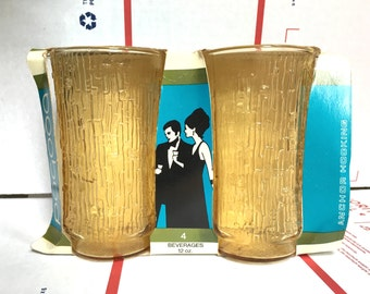 Set of Anchor Hocking Mid Century New Old Stock Drinking Glasses