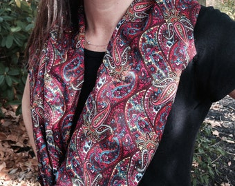SOLD*****Silk Paisley Scarf