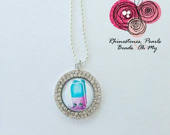 Shopkins Necklace, Gift for Girl, Flower Girl Gift, Birthday Gift, Christmas Present, Party Favor, Toddlers Necklace, Girl's Necklace