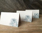 Snowflakes - Place cards, escort cards,  -Events - Weddings- Home - Holidays - blue gray snow flakes