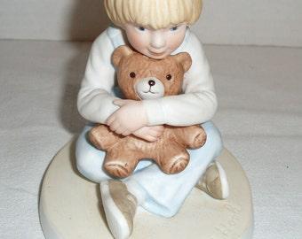 """Frances Hook Ceramic Figurine,  """"Bear Hug"""""""