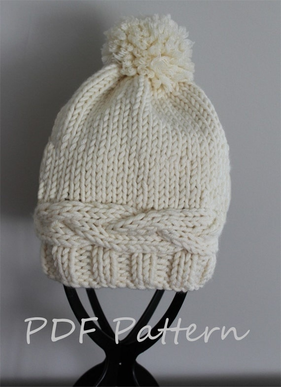 Adult Hat Knitting Pattern 103