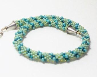 Fabulous Beaded Crochet Rope Necklace, Jewelry