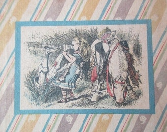 1940s book -acceptable copy - Alice in Wonderland continued ---Through The LOOKING GLASS - Random House, Tenniel, Kredel