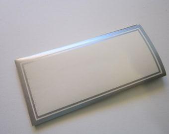 24 vintage gummed labels - silver border - 1.875 x 4 inches - report cover labels